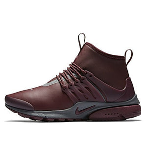 Nike Womens Air Presto Mid Utility Hi Top Trainers 859527 Sneakers Shoes (Night Maroon 600)