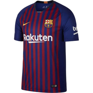 Nike Men's Fc Barcelona Stadium Short Sleeve HM T-Shirt, Large Deep Royal Blue/University GOL,