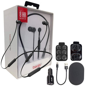 Beats by Dr. BeatsX Wireless In-Ear Headphones - Black - With Fast Key 2.4 Car Adapter & Ear Gel,Lighting USB Kit (Renewed)