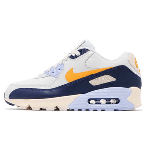 Nike Mens Air Max 90 Limited Edition Essential Running Shoes Pure Platinum/Yellow Ochre/Blue Void AJ1285-008