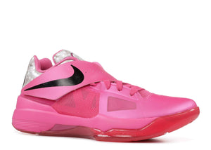 Nike Zoom KD IV Aunt Pearl Kay Yow Breast Cancer Limited Edition Pink 473679-601