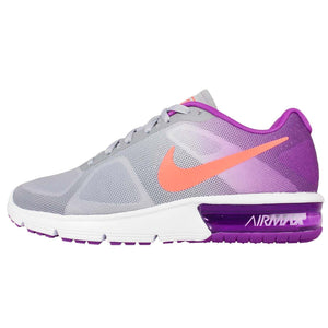 Nike Women's Air Max Sequent Running Shoes Sneakers (Purple/Gray/Orange/White)