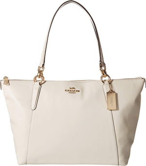 COACH Women's Leather Ava Tote Chalk One Size