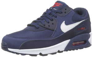 Nike Mens Air Max 90 Essential Running Shoes Midnight Navy/White/University Red AJ1285-403