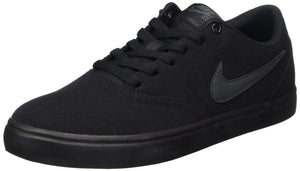 Nike Men's SB Check Solarsoft Canvas Skate Shoe Black/Anthracite