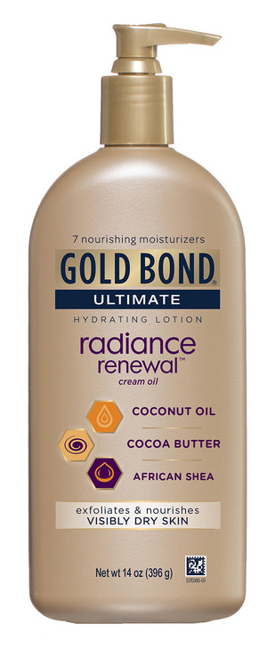 Gold Bond Ultimate Radiance Renewal, 14 Ounce Lotion with Coconut Oil, Shea Butter, Cocoa Butter