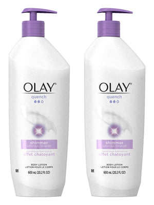 Olay Quench Ultra Moisture Shea Butter Body Lotion, 20.2 fl oz (Pack of 2) Packaging May Vary