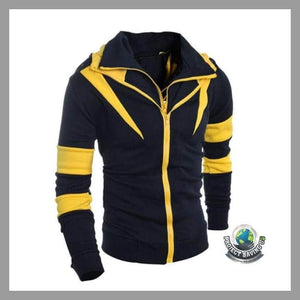 Mens Long Sleeve Hooded Jacket (CC) - Yellow / L - Jackets