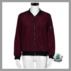 Womens Slim Biker Motorcycle Soft Coat/Jacket (USO) - Jackets