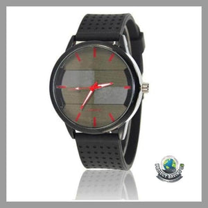 Mens Luxury Quartz Military Stainless Steel Leather Band Wrist Watch (CC) - D - Watches