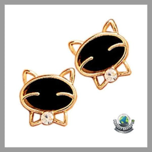Attractive Cat Beautiful High-Grade Fine Stud Earrings (AC) - Earrings