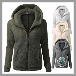 Womens Hooded Winter Warm Wool Coat/Jacket (NE) - Jackets