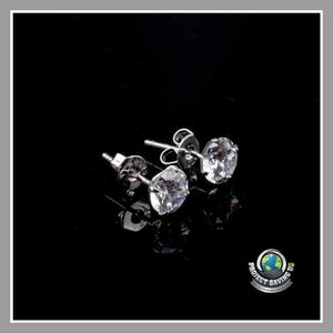 Women Crystal Ear Stud Earrings (WW) - Earrings