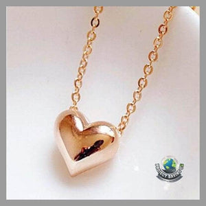 Gold Heart Women Necklace (USO) - Necklaces