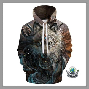 Men/Women 3D Wolf Warrior Hooded/Pullover/Sweatshirt (NE) - LMS259 / 4XL - Hoodies