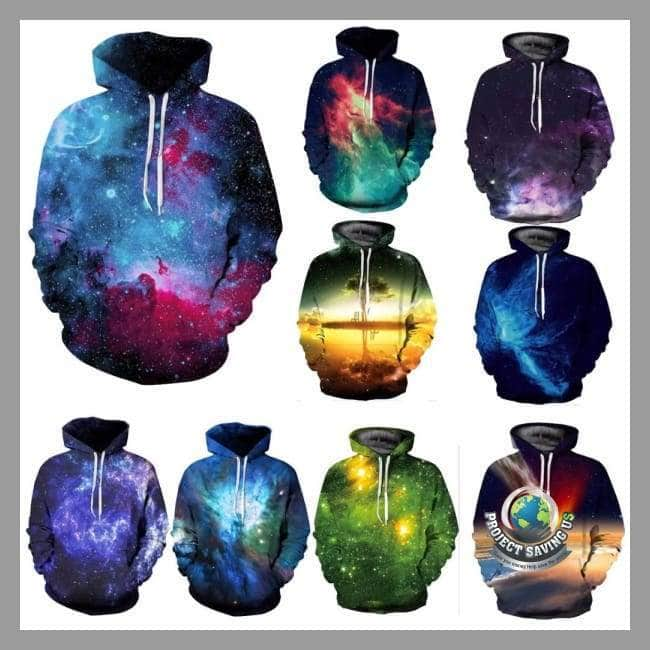 Men/Women Space Galaxy 3d Hooded/Sweatshirt 9 Different Design Choices (FD) - Hoodies