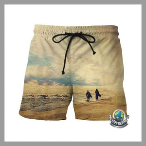 Mens Fast Dry Casual Swimming Shorts (WA) - Shorts