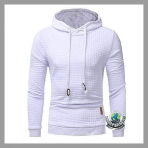 Men Long Sleeve Solid Color Casual Hooded/Pullover/Sweatshirt (FS) - WHITE / 4XL - Hoodies