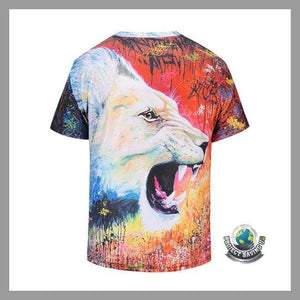 Mens Lion Short Sleeve T-Shirt (FD) - As Shown / M - T-Shirts