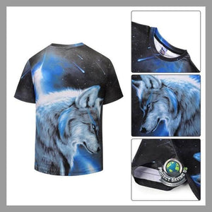 Mens Wolf Short Sleeve T-Shirt (NE) - T-Shirts