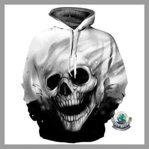 Men/Women 3D Melted Skull Hooded/Pullover/Sweatshirt 8 Designs to Choose (FH) - Hoodies