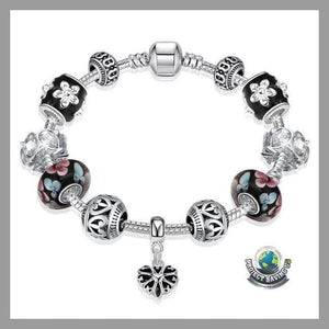 Womens Flower Petals Bracelet Made with Swarovski Elements (WA) - Bracelets
