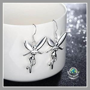 Womens 18K White Gold Angels Earrings (AC) - Earrings
