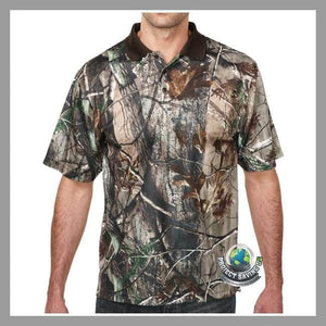 Mens Camo Polo Shirt (WW) - Real Tree AP / Extra-Small - Shirts