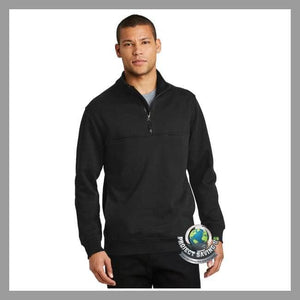 Mens Durable 1/2 Zip Work Shirt (FD) - Black / Extra-Small - Shirts