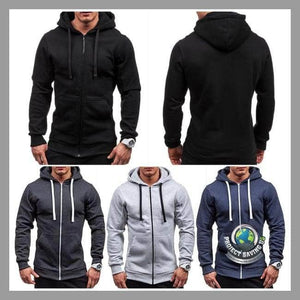 Mens Long Sleeve Casual Pocket Hooded/Pullover/Sweatshirt (FS) - Hoodies
