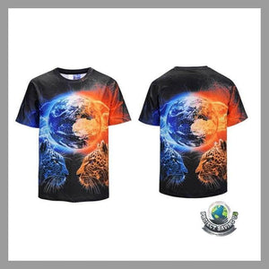 Mens Leopard Short Sleeve T-Shirt (PD) - T-Shirts