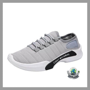 Mens Breathable Lace-up Running Casual Shoes (PT) - Gray / 6.5 - Shoes