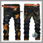 Men's Ripped Jeans Denim Retro Pants