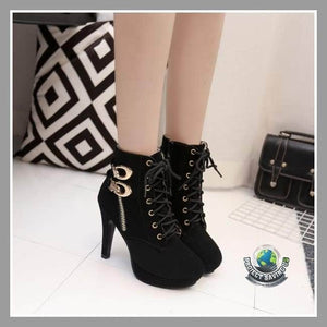 Womens Sexy High Heels Platform Ankle Lace-Up Boots/Shoes (TT) - Shoes
