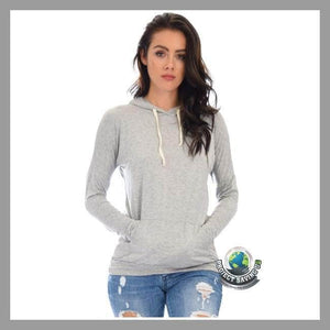 Womens Drawstring Hoodie (FS) - Black / Large - Hoodies