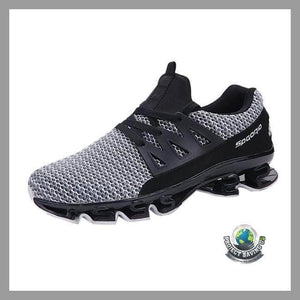 Mens Casual Slip On Sport Mesh Running Shoes (CH) - White / 6.5 - Shoes