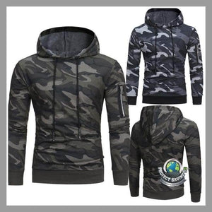 Mens Long Sleeve Camouflage Hooded Jacket (FD) - Jackets