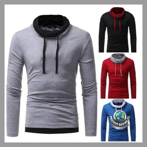 Mens Autumn Winter Long Sleeve Hooded Sweatshirt (PD) - Hoodies