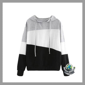 Womens Long Sleeve Hooded Pullover Sweatshirt (WW) - White / L - Hoodies