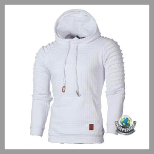 Mens Slim Casual Warm Long Sleeve Hooded/Pullover/Sweatshirt (PT) - White / S - Hoodies