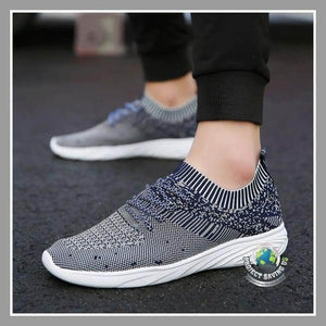 Mens Solid Cross Tied Casual Running Shoes (FS) - Blue / 6.5 - Shoes