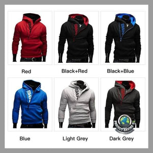 Men Warm Collar Cap Long Sleeve Hooded/Pullover/Sweatshirt (PD) - Hoodies