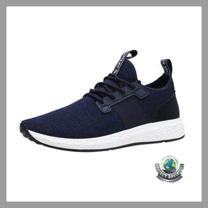 Mens Solid Color Breathable Mesh Cross Tied Running Shoes (FD) - Shoes