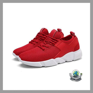 Mens Solid Color Cross Tied Casual Running Shoes (AF) - Shoes