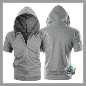 Men/Women Fashion Short Sleeve Casual Hooded/Shirt (WA) - Hoodies
