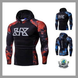 Mens Fitness Long Sleeve Hooded/Pullover/Sweatshirt (FD) - Hoodies