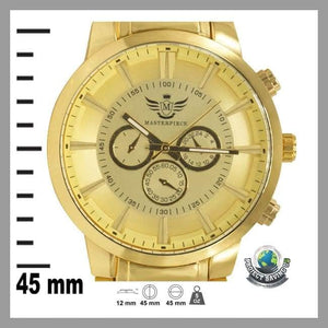 Mens Gold Glossy 3-subdial Executive Classic Watch (CC) - Watches