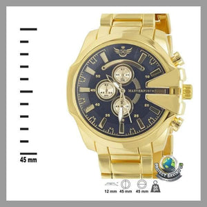 Mens Gold V-cut Executive Classic Watch (PD) - Watches