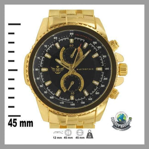 Mens Gold Triangle Cut Executive Classic Watch (WW) - Watches