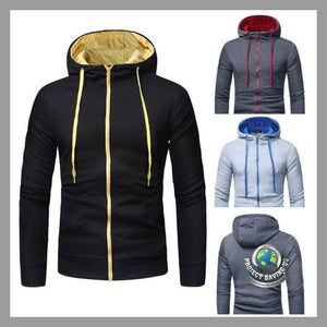 Mens Long Sleeve Hooded Jacket (FS) - Jackets